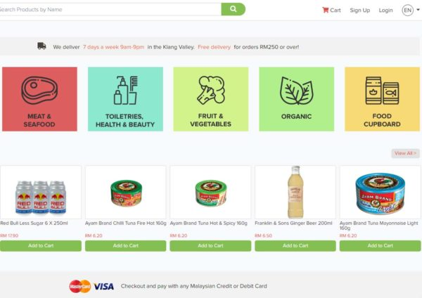 mygroser malaysia first independent fully online grocery store website