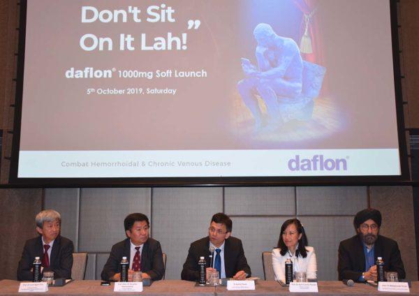 servier daflon piles and chronic venous disease press conference