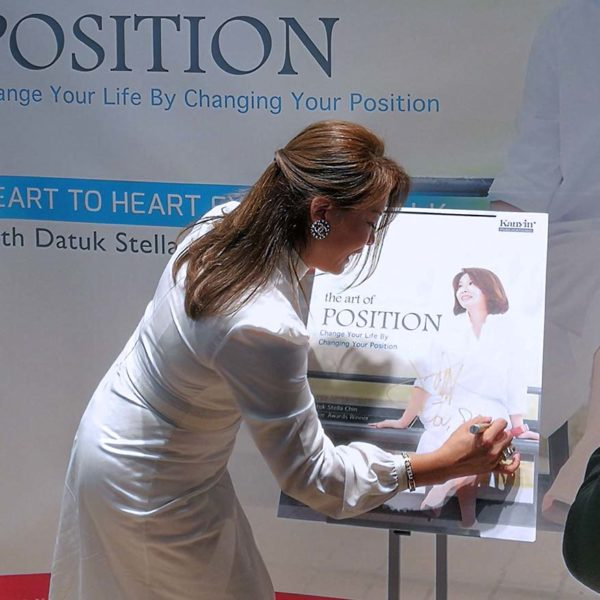 datuk stella chin the art of position book launch sign