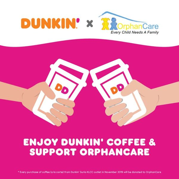 dunkin suria klcc new outlet csr initiative orphancare