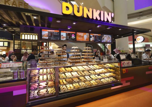dunkin suria klcc new outlet revamped branding