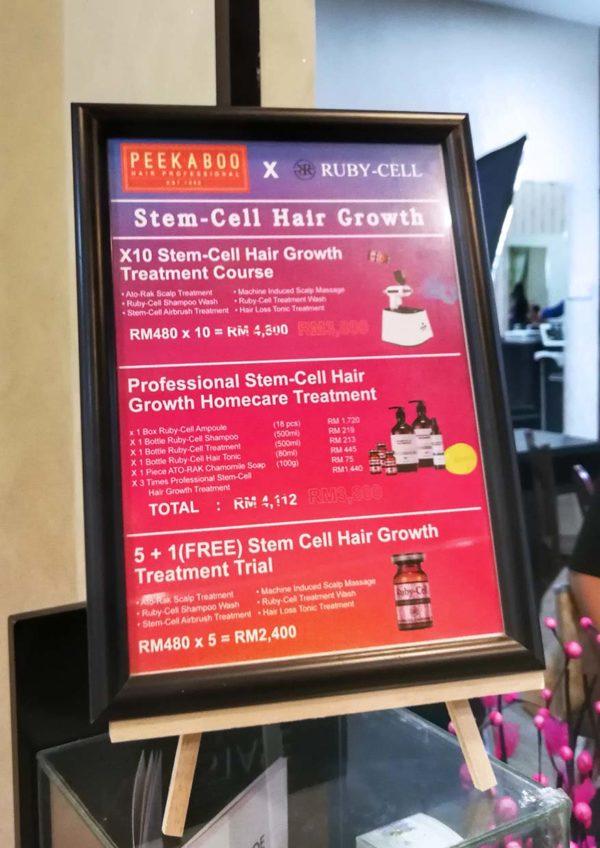 peekaboo hair salon ttdi 21st anniversary ruby stem cell hair growth treatments