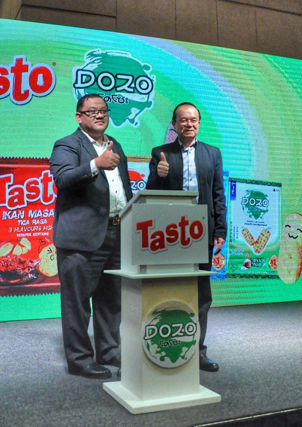 tasto potato chips and dozo rice crackers launching event