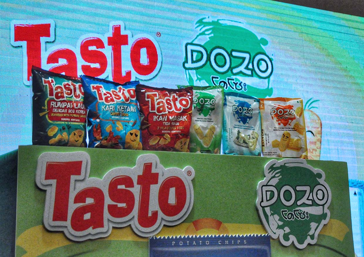 New TASTO Potato Chips & DOZO Rice Crackers by BJC Foods