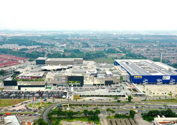 toppen shopping centre tebrau johor bahru aerial view
