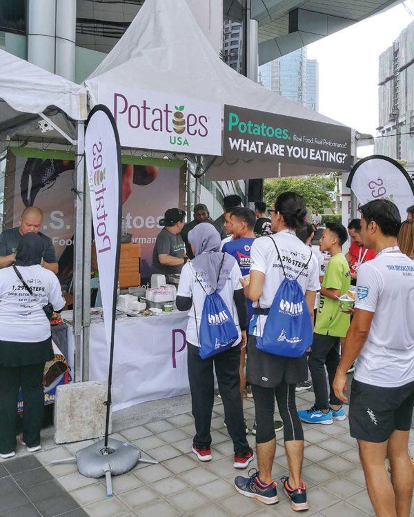 yayasan tm tower run potatoes usa sponsor booth
