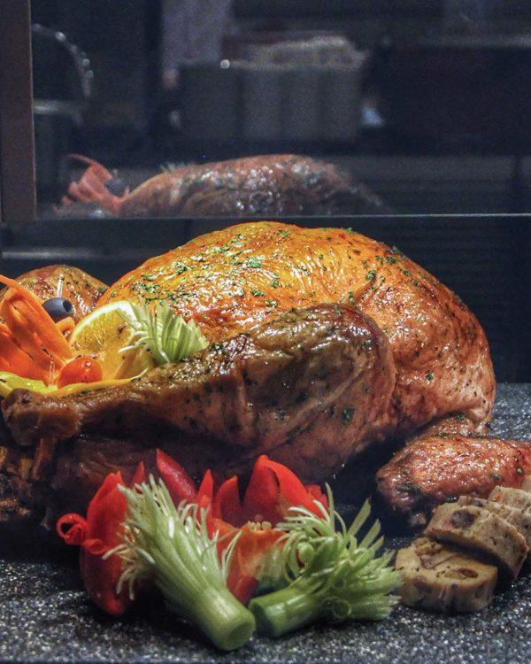 christmas buffet cinnamon coffee house one world hotel pj roasted turkey