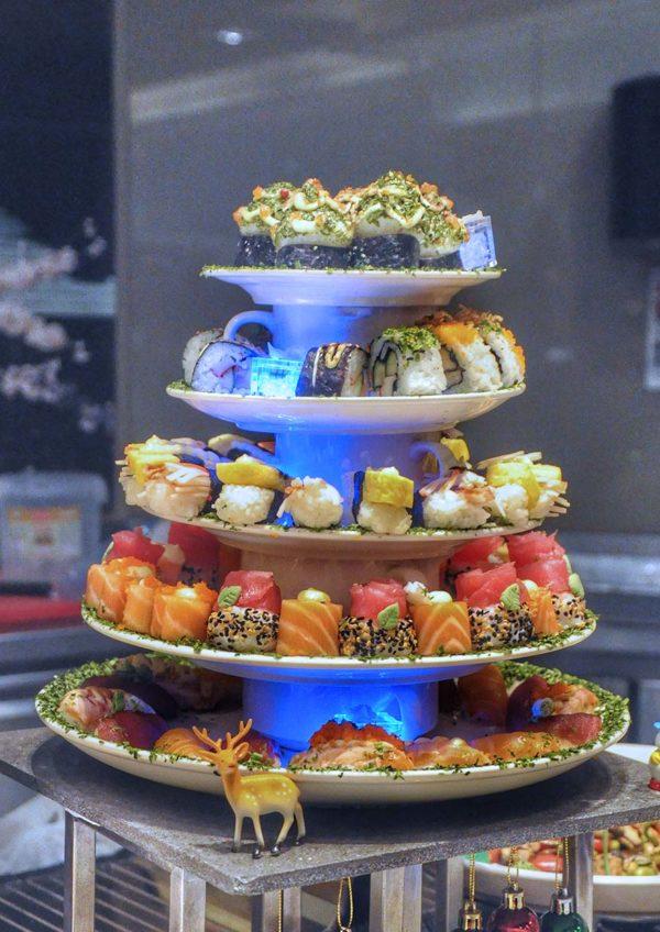 christmas buffet cinnamon coffee house one world hotel pj sushi