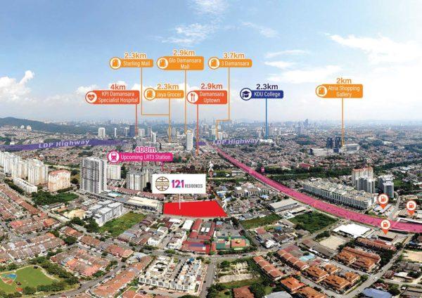 glomac 121 residences triple boost year end bonanza location map