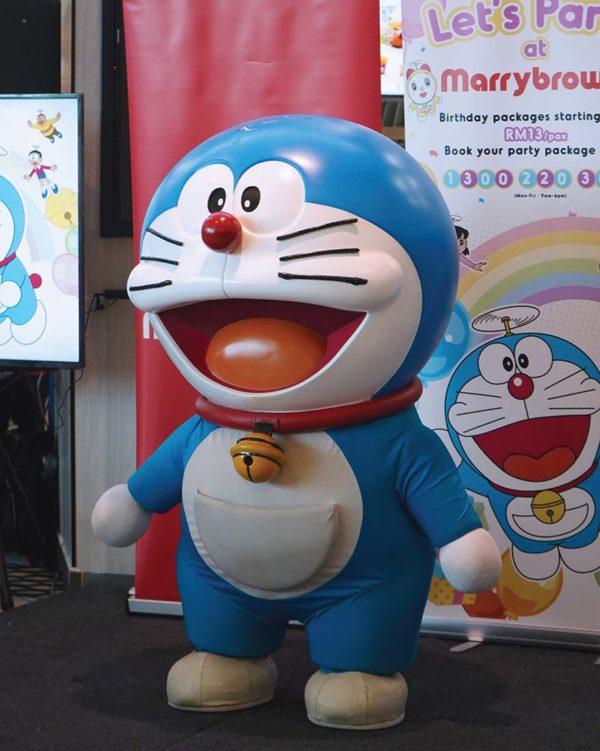 marrybrown doraemon birthday bash package character