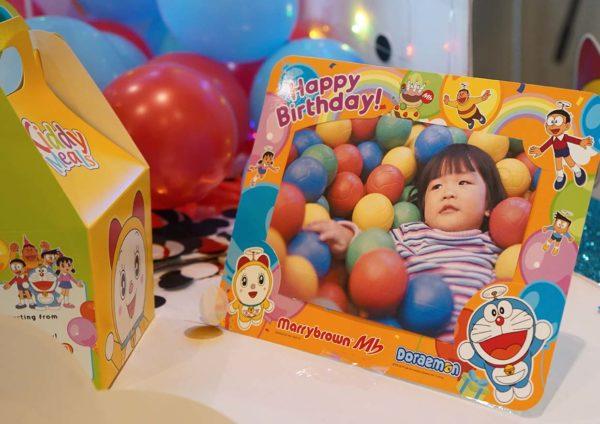 marrybrown doraemon birthday bash package merchandise