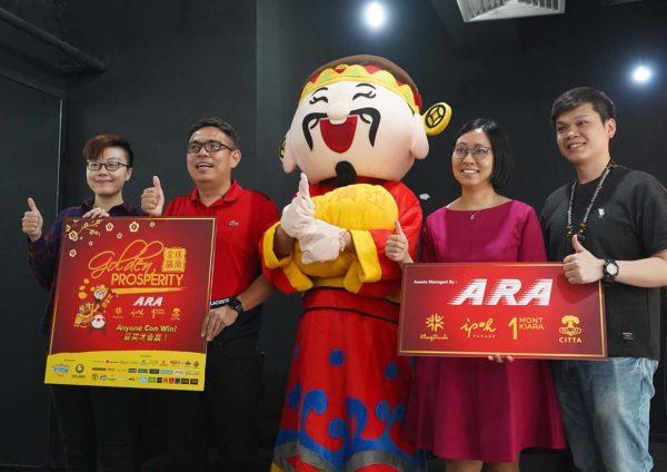 ara malls golden prosperity anyone can win cny campaign team