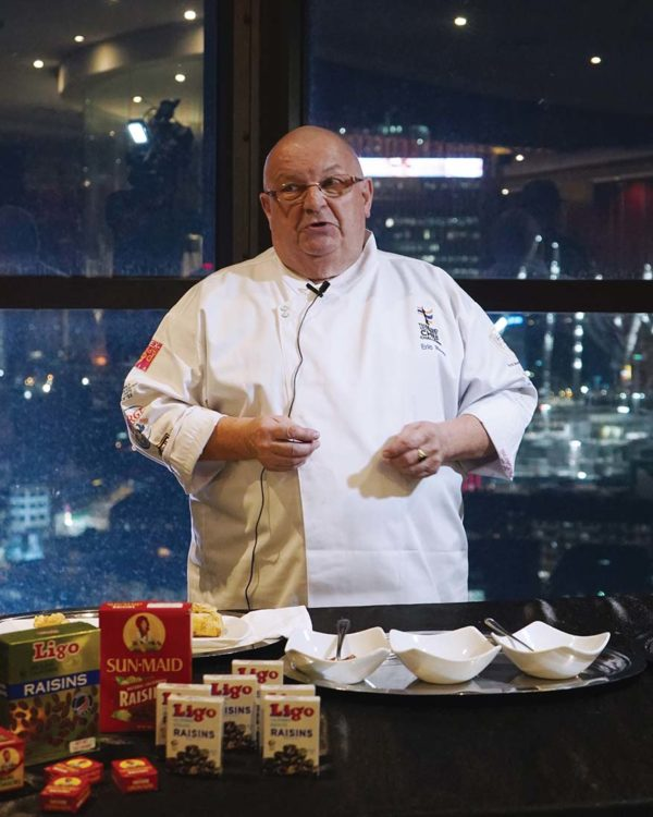 california raisins samplings on the fourteen chef erich anton roos