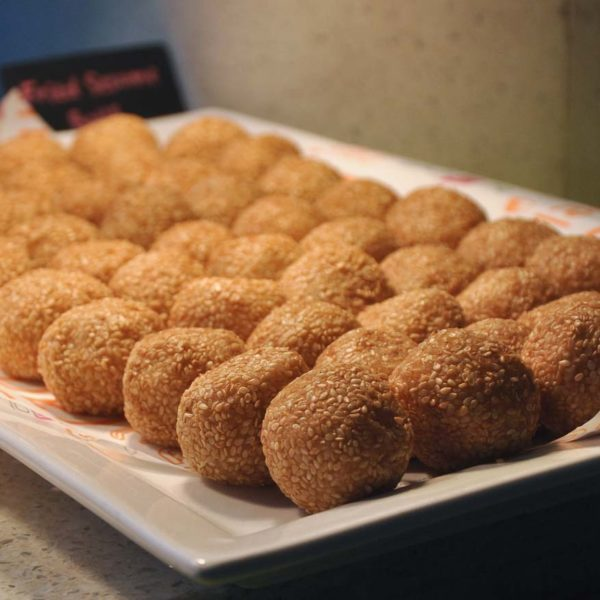 nook aloft kuala lumpur sentral cny buffet fried sesame ball
