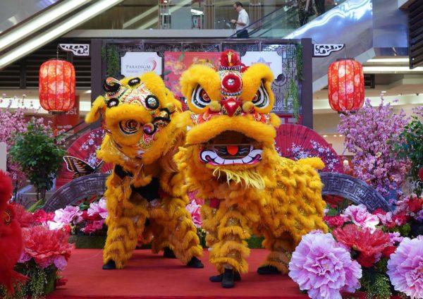 paradigm mall petaling jaya garden of abundance cny lion dance