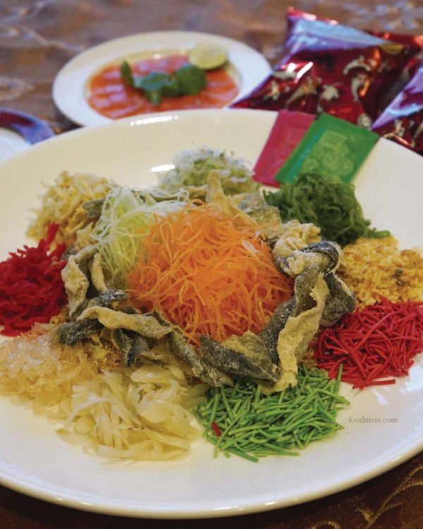 the emperor dorsett grand subang cny set menu yee sang