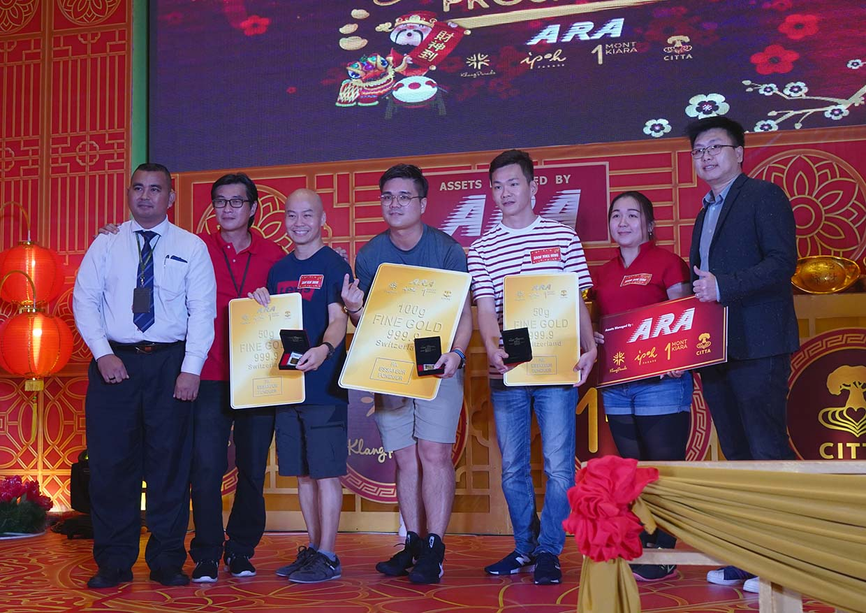 Gold Bar Winning @ ARA's Golden Prosperity CNY Campaign Final Challenge