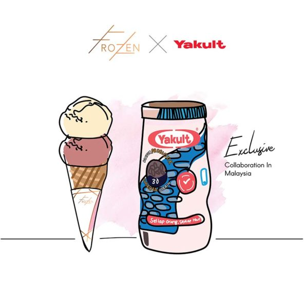 yakult ice cream frozen bangsar collaboration