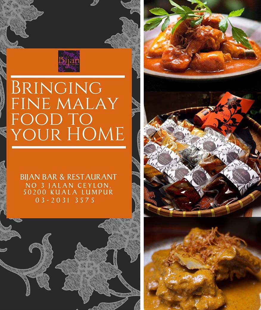 Indulge Bijan's Fine Malay Food at Your Own Home