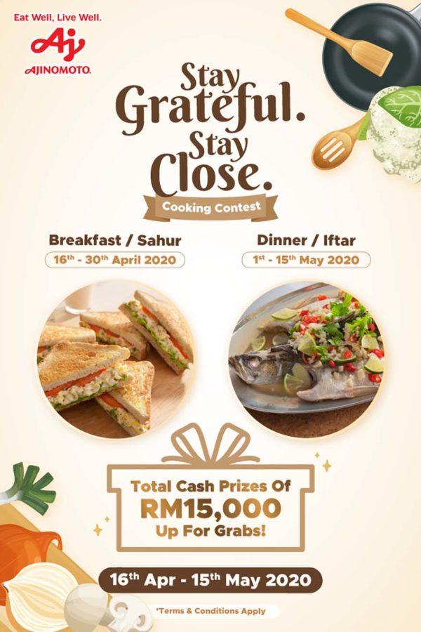 ajinomoto stay grateful stay close cooking contest