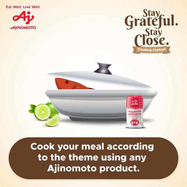 ajinomoto stay grateful stay close cooking contest dish