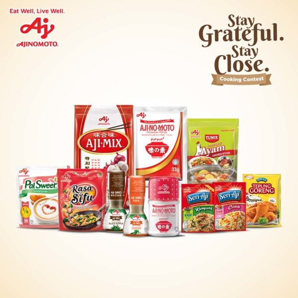 ajinomoto stay grateful stay close cooking contest products