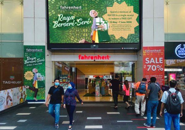 fahrenheit88 kuala lumpur raya berseri-seri main entrance