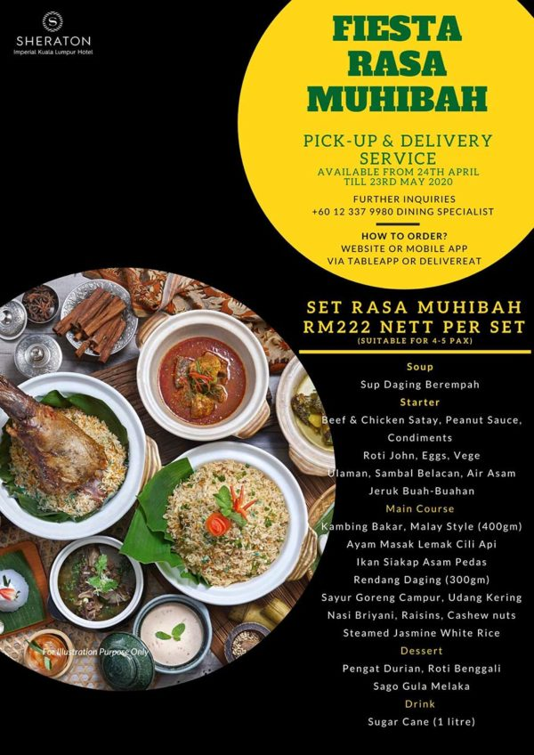 sheraton imperial kl hotel on the go delivery takeaway menu ramadan set