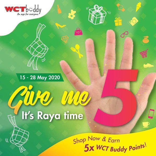 wct malls give me 5 raya campaign