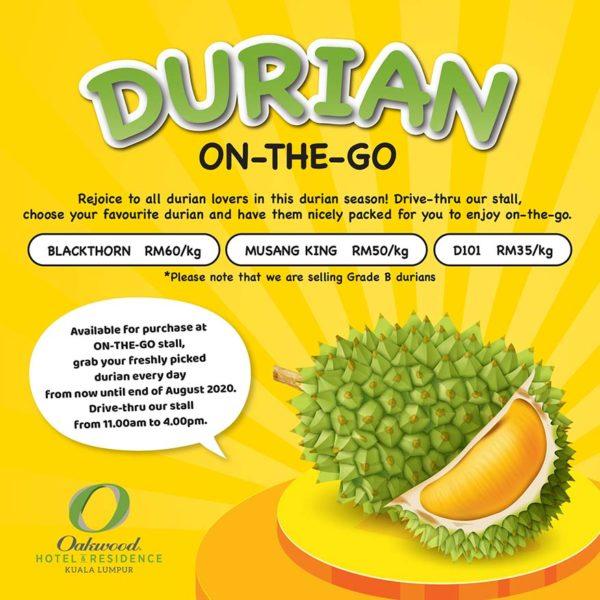 oakwood hotel residence kl durian on the go