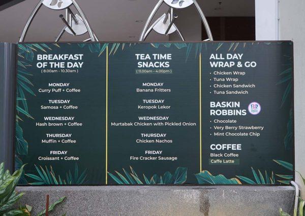 oakwood hotel residence kl on the go promo menu
