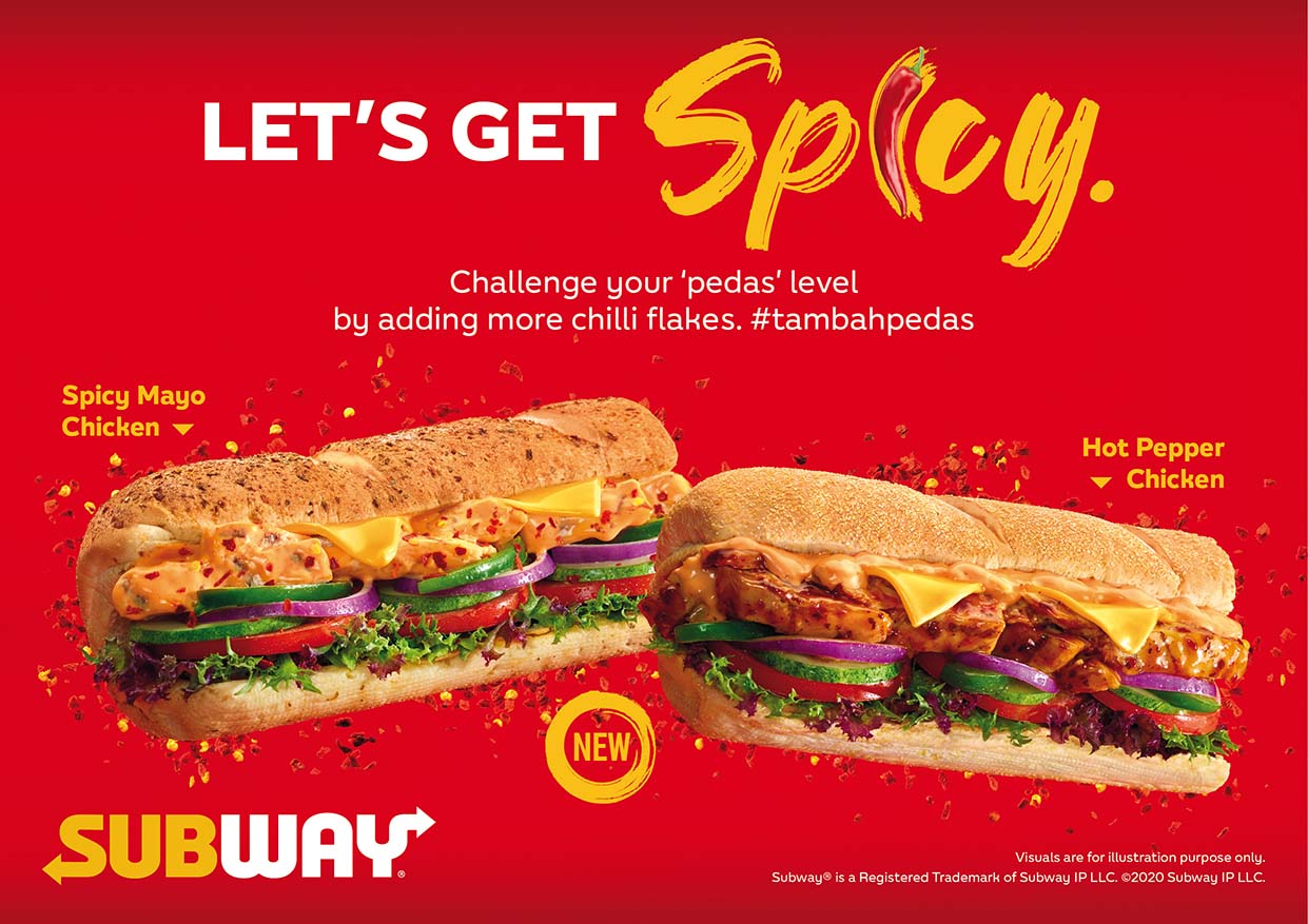 #TambahPedas with Hot & Spicy Subs @ Subway Malaysia