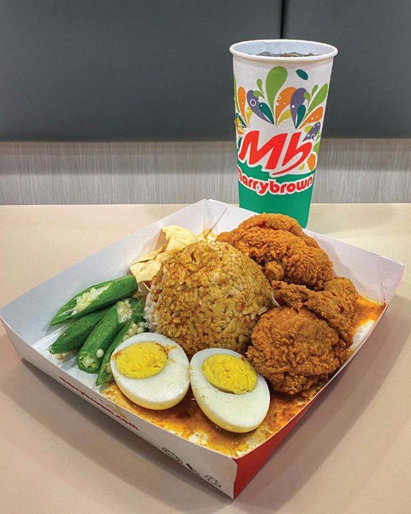 nasi kandar marrybrown chicken combo