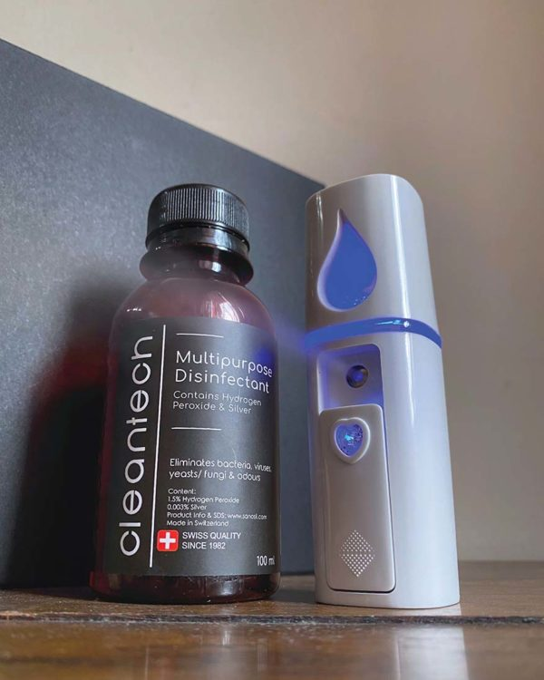 cleantech mist spray sanitize disinfect stylish