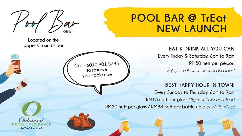 RM50 Bottomless Tiger Beer @ Pool Bar, Oakwood Hotel & Residence KL