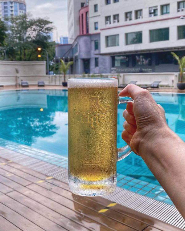 pool bar treat oakwood hotel residence kl rm50 bottomless tiger beer