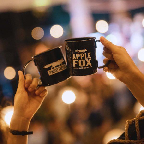 apple fox cider aluminium mug