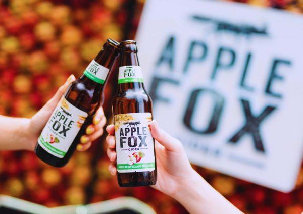 apple fox cider glass bottle