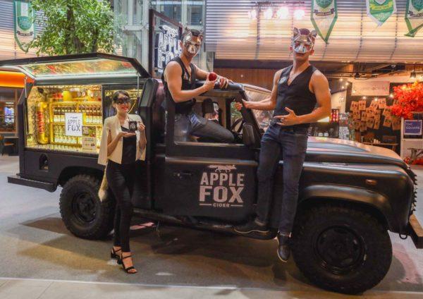 apple fox cider mobile draught truck
