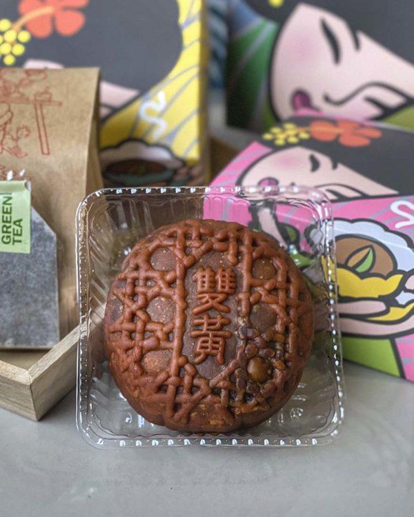 purple cane mid-autumn festival puer tea mooncake