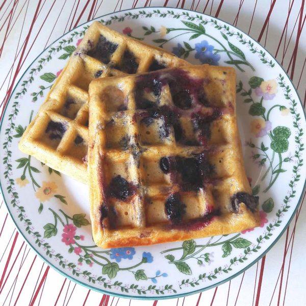 washington blueberries whole wheat waffle recipe