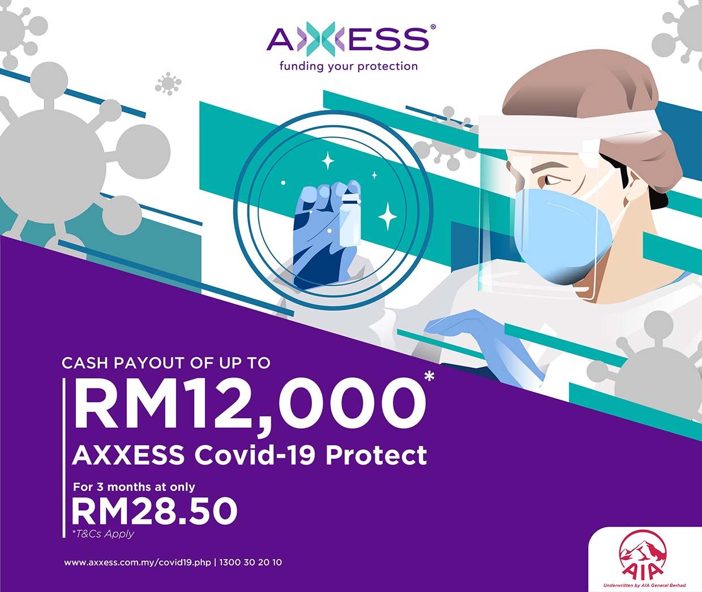 Malaysia's 1st Dedicated Covid-19 Insurance Plan @ AXXESS