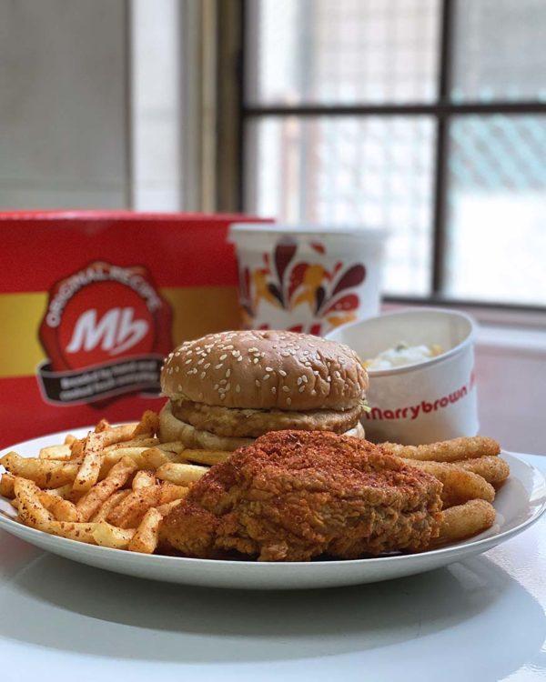 marrybrown mala fried chicken combo set