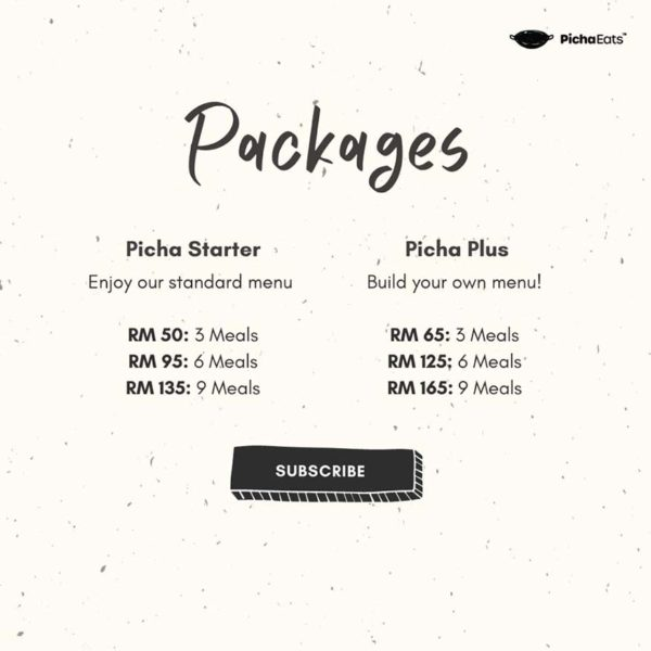 pichaeats ready to heat meals subscription pricing