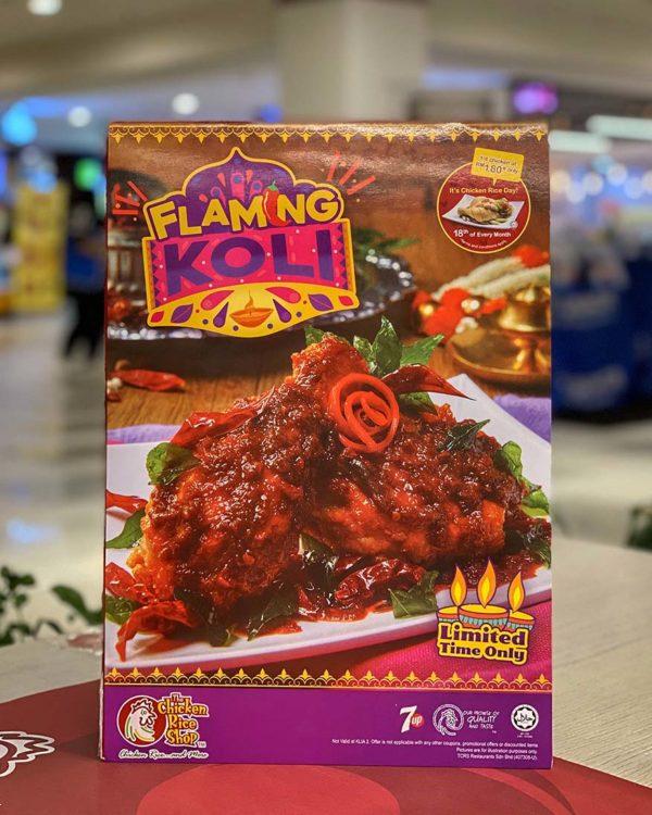 the chicken rice shop flaming koli deepavali menu