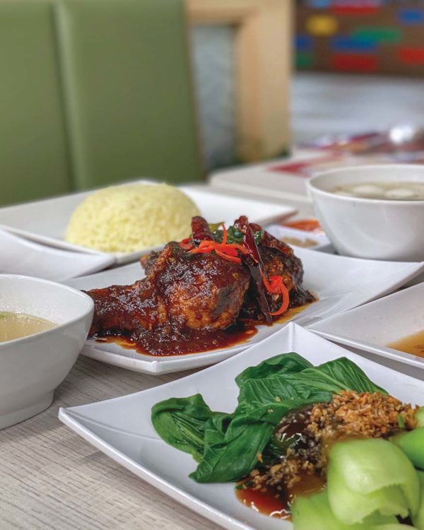 the chicken rice shop flaming koli deepavali menu chicken set