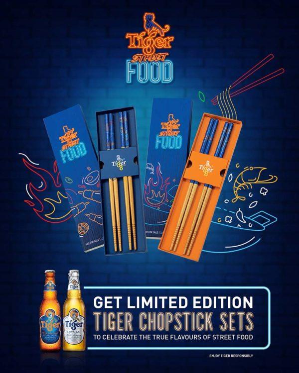 tiger beer street food virtual festival limited edition chopsticks