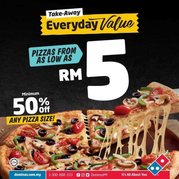 dominos pizza everyday value as low as rm5