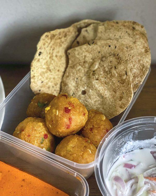 passage thru india deepavali menu ladoo papadum