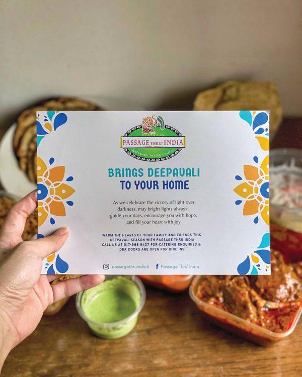 passage thru india deepavali menu online delivery